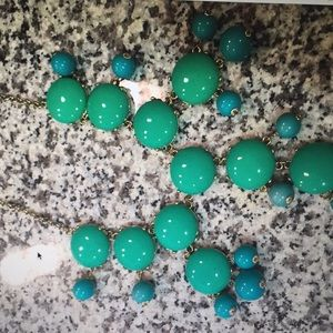 J.Crew turquoise bubble necklace